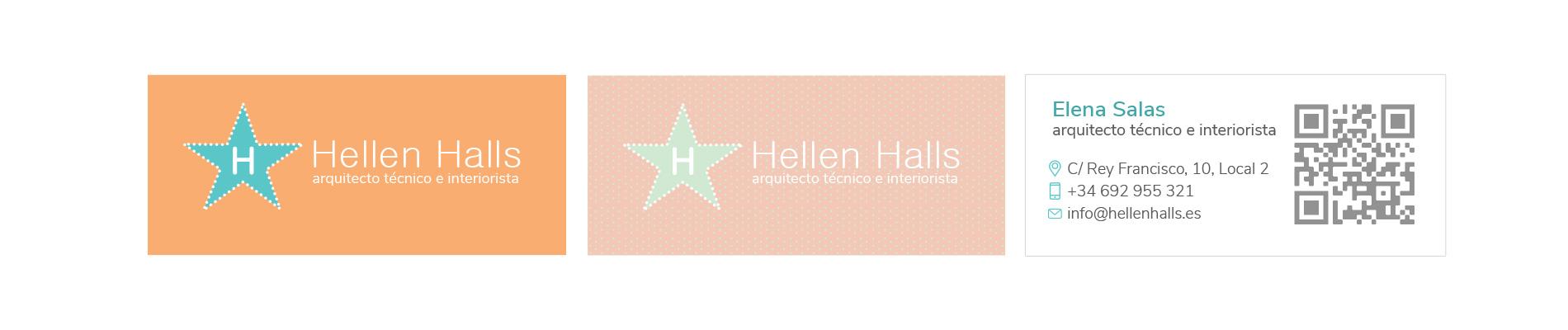 Tarjetas Visita Hellen Halls